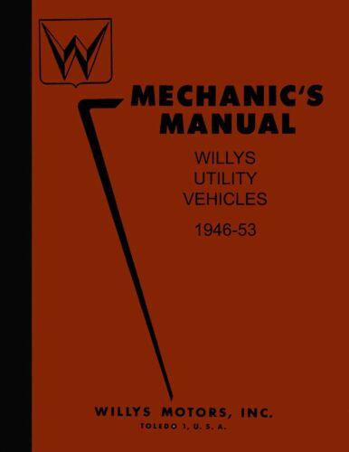 OEM Shop Manual Jeep Pickup//Sedan Delivery//Wagon//Jeepster 1946-1953