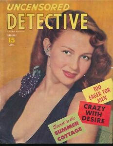 UNCENSORED-DETECTIVE-February-1953-CRAZY-WITH-DESIRE-Glamour-Girl-Photo-Cover