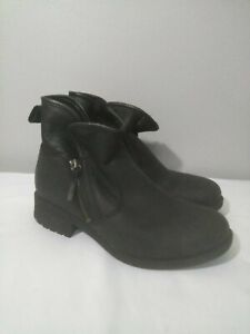 c5083db208d Details about UGG AUSTRALIA 1013366 LAVELLE BLACK LEATHER ANKLE HIGH HEEL  BOOTS WOMEN'S 9