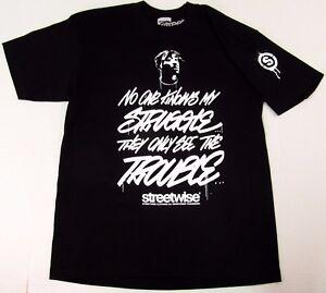 STREETWISE-TROUBLESOME-T-shirt-Urban-Streetwear-Tee-Men-L-4XL-Black-NWT