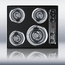 """New in Box Black 24"""" Elec 4 Burner Cooktop SurfaceUnit"""