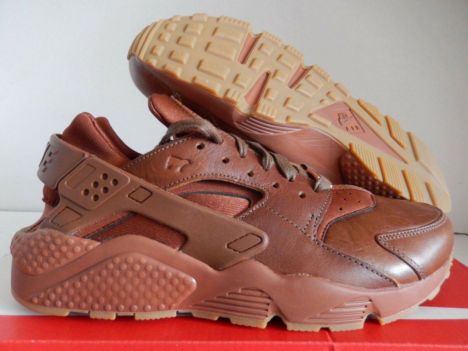 NIKE AIR HUARACHE ID WILL PREMIUM LEATHER BROWN SZ 9 [918438-991]