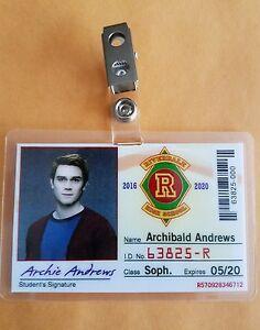 Riverdale-TV-Mostrar-Identificacion-Archibald-Andrews-Utileria-Cosplay-Disfraz