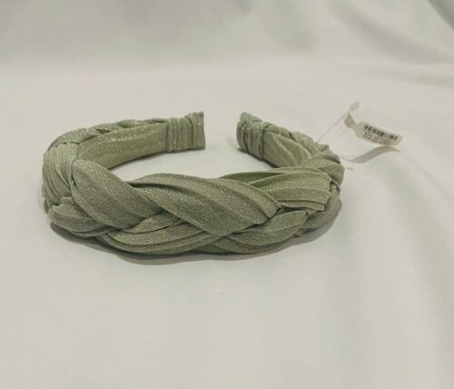 NWT Anthropologie Green Shimmer Braided Headband