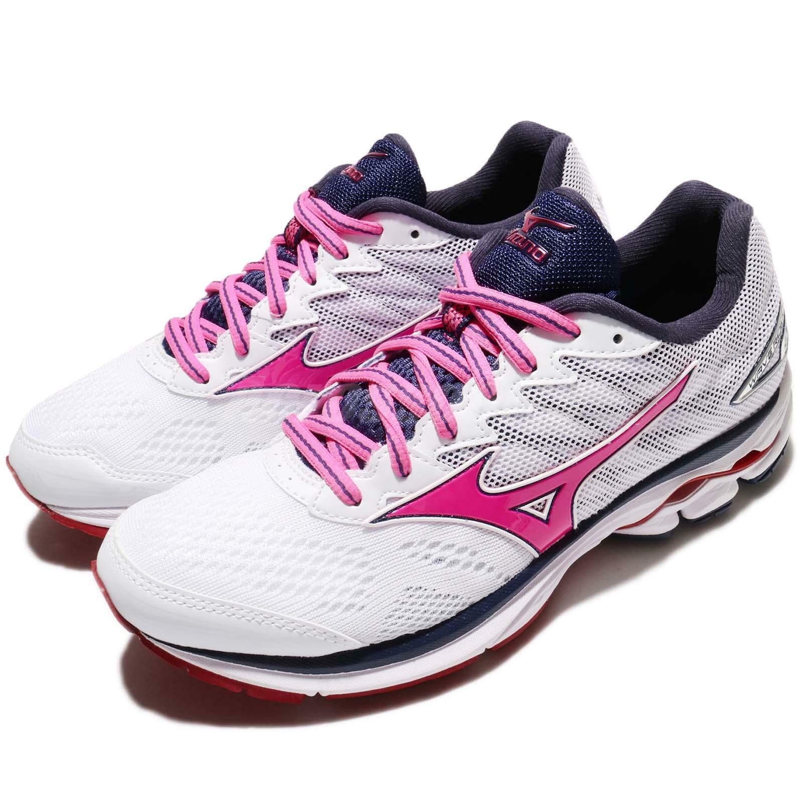 Mizuno Wave Rider 20 blanc rose femmes Running Training chaussures baskets J1GD1703-66
