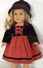 """Hat and Dress SET for American Girl Doll 18"""" Clothes & Accessories"""