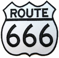 Route 666 Number of the Beast Novelty Highway Road Sign Iron On Applique Patch