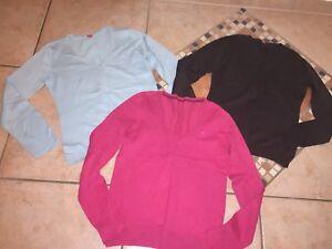 Neck Esprit Marron Rose Bleu Clair 3x 38 40 Femme Gr M Top Pullover nYFqwSdA