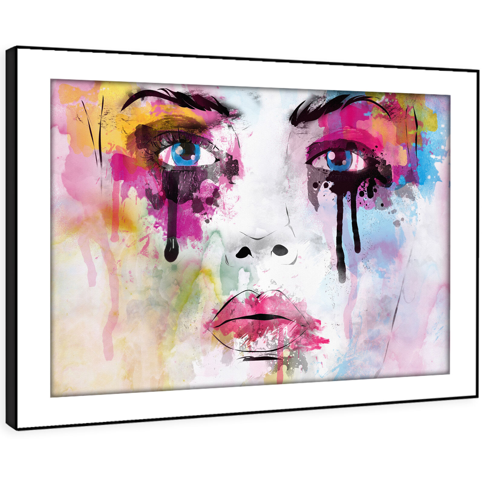 E162 Colourful Abstract Retro Woman Modern Framed Wall Art Large Picture Prints