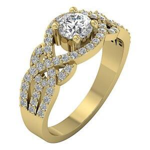 I1-G-Solitaire-Engagement-Ring-1-30-Ct-Round-Cut-Diamond-14K-White-Yellow-Gold