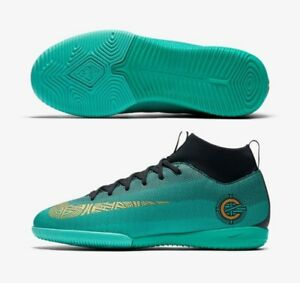 best sneakers e59cc b7263 Details about NIKE C. RONALDO MERCURIALX SUPERFLY VI ACADEMY CR7 IC YOUTH  INDOOR SOCCER SHOES.