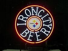 "New Iron City Beer Pittsburgh Steelers Go steelers NFL Neon Sign 24""x20"""