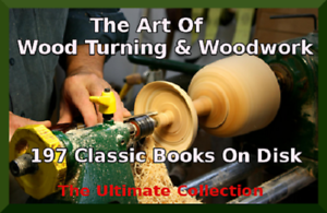 197 Books On CD - Wood Turning Course Woodwork Woodworking Patterns Textbooks