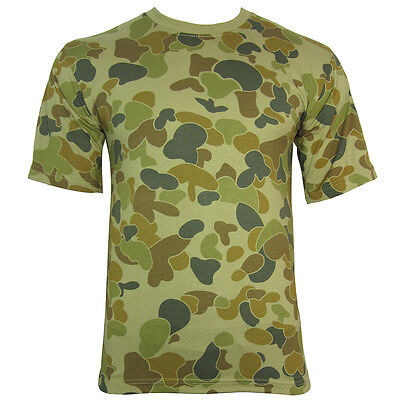 Australian Camouflage T-Shirt - 100% Cotton Army Military Top AUSCAM OZCAM New