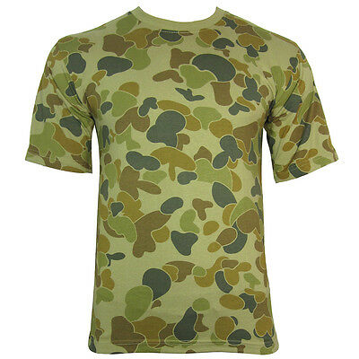 AUSTRALIAN CAMO / CAMOUFLAGE MILITARY T-SHIRT - All Sizes Aussie Army Top