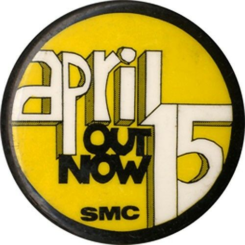 4730 1967 Spring Mobilization Vietnam War Protest Button