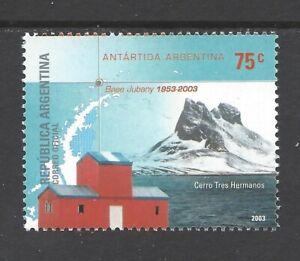 ARGENTINA 2003 50th ANNIV OF JUBANY ANTARCTIC BASE UM/NHM