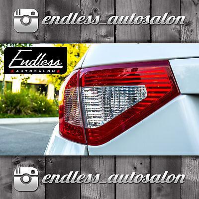 08-14 WRX STi Hatchback RED Tail Light Overlays *INCLUDES 3RD BRAKE*