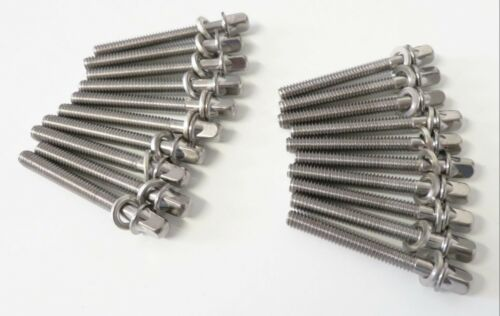 """20 NEW SONOR 45mm DRUM TENSION RODS w// Metal Washers 2 1//8/"""" Long Tom//Snare//45"""