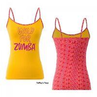 Zumba - Wild For Zumba Spaghetti Strap Tank Top - Yellow Size Xxl Free Ship
