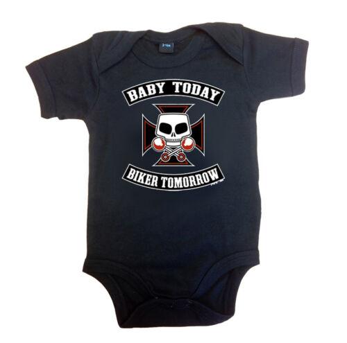 Rockabilly Baby Body Body Bébé Today Biker Tomorrow Noir