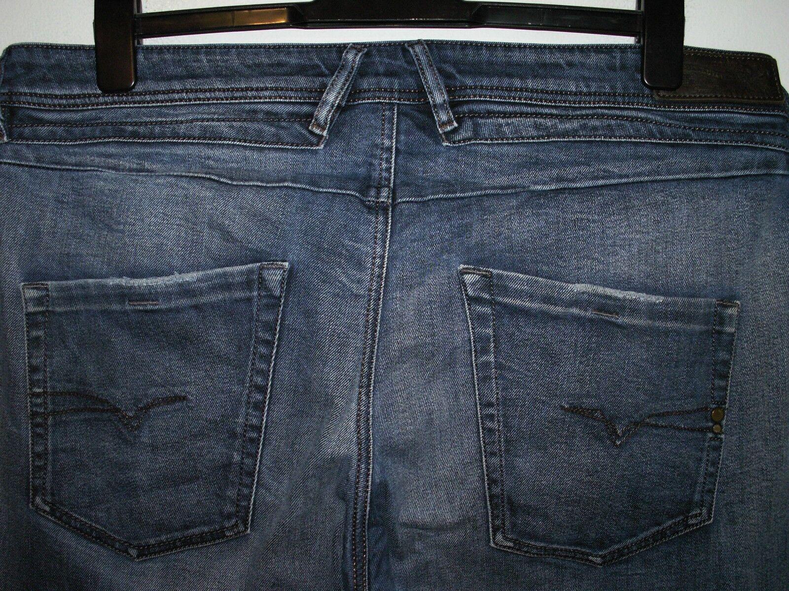 Diesel Belther Regular Slim Taperouge Fit Jeans Laver 0848Z stretch W36 L32 (a4103)