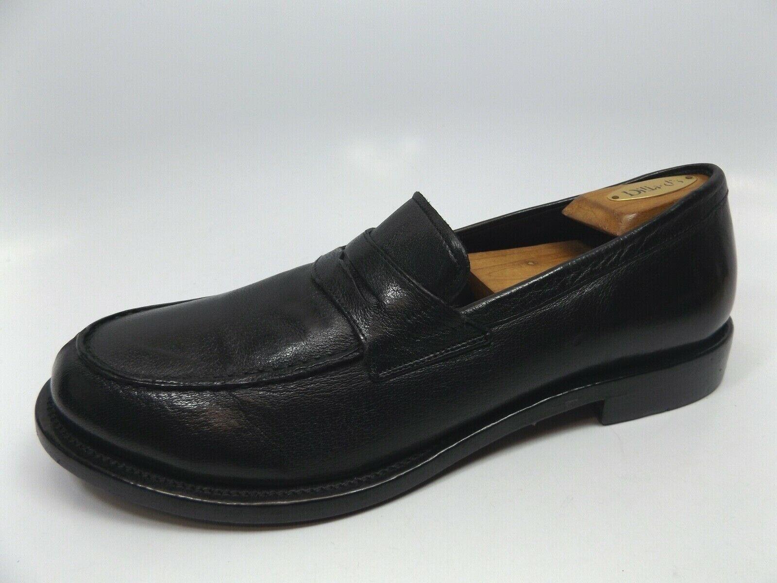 Neu Herren Frye Murry Pennyloafer Schwarz Leder Italien Schuhe, Sz 10.5 M,