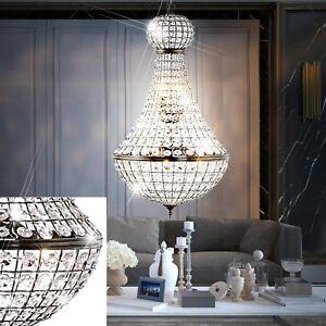 Luxus-Pendel-Haenge-Lampe-Esszimmer-Kugel-Kristall-Kronleuchter-Orient-D-45-cm