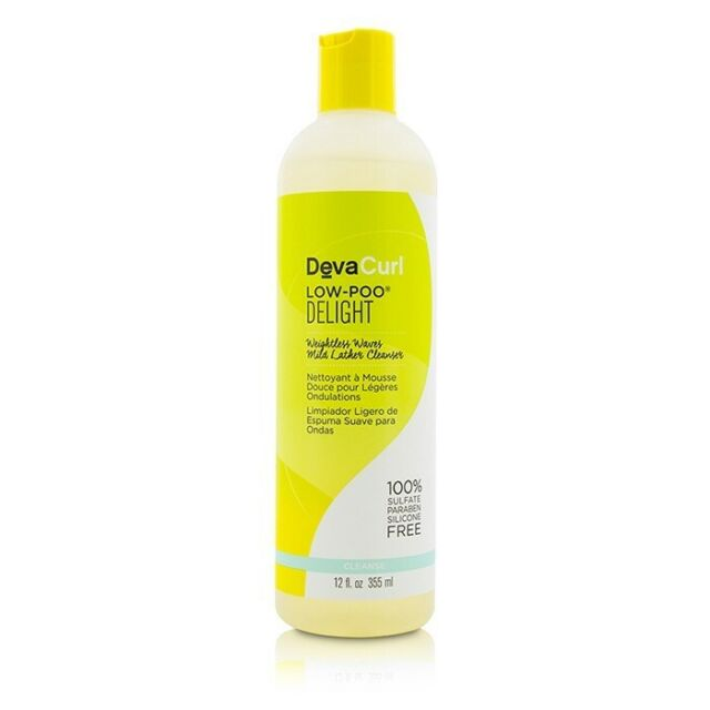 DevaCurl Low-Poo Delight (Weightless Waves Mild Lather Cleanser - For 355ml