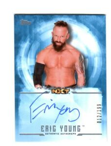 WWE-Eric-Young-2017-Topps-Undisputed-Blue-On-Card-Autograph-SN-12-of-199