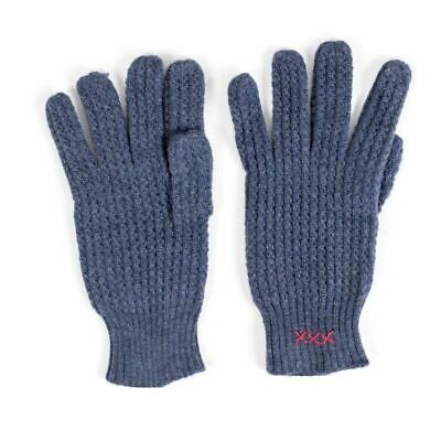 New Italian Air Force Blue Knit Wool Gloves XL Italian Made Heavy Duty Free Ship