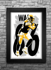 5817ed7232a HINES WARD art print/poster PITTSBURGH STEELERS FREE S&H! JERSEY | eBay