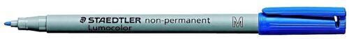 Staedtler® Folienschreiber Lumocolor Non-Permanent Blau M-Spitze Wasserlöslich