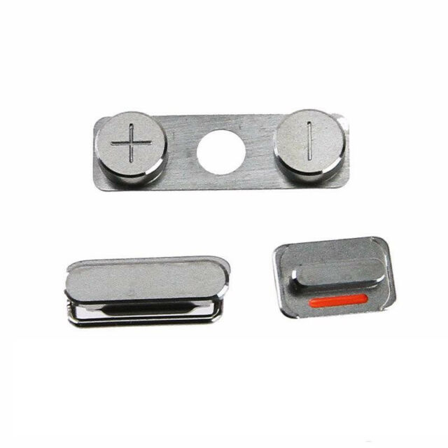 NEW Side Button Power Volume Mute Switch Key Set Replacement Parts for iPhone 4