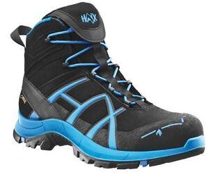 Haix Black Eagle Safety 40 Mid Black//Blue Leichte Sicherheitsschuhe Modern und sicher