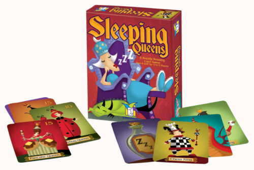 FUN EDUCATIONAL GAMEWRIGHT GAME A ROYALLY ROUSING CARD GAME SLEEPING QUEENS