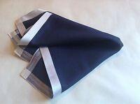 FINEST COTTON Navy Mens Contemporary Handkerchief pocket square By DAKS DESIGN