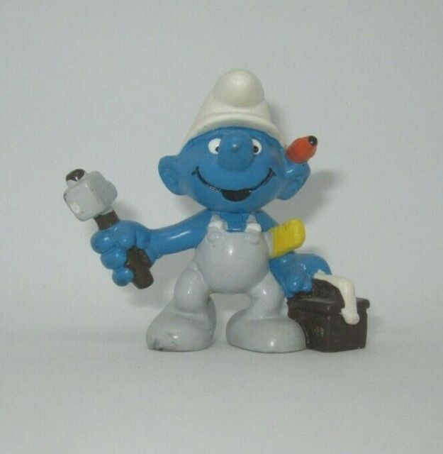 Smurfs Thanksgiving Pilgrim Smurf Rare Vintage Display Figurine Portugal