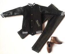 Barbie Doll Fashion Clothes Coat Baseball Jacket Pants Set Shoes For KEN Dolls