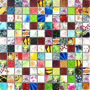 POP-UP-tipo-mosaico-piastrella-in-ceramica-piu-colori-Colorata-Retro-Vintage-Star-wb18d-1605