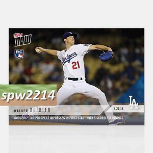8fa2e668 2018 Topps Now Walker Buehler #119 Dodgers Prospect First Start 5 ...