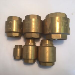 CHECK-VALVES-BRASS-SPRING-VARIOUS-SIZES