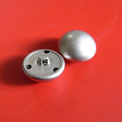 12 Métal Laiton en Forme de Dôme Demi-boule Sew On Chemise Bouton sable argent mat 12.5 mm G218