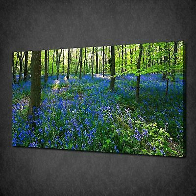 MOUNTAIN LAKE TREE BLUE 3 PANELS CANVAS PRINT PICTURE READY TO HANG