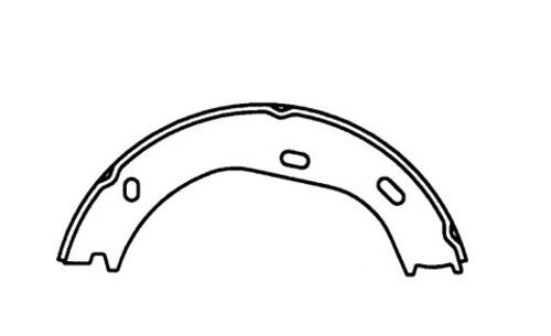 Parking Brake Shoe-Premium Brake Shoes-Preferred Rear Centric 111.08750