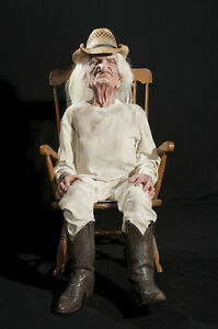 Magnificent Details About Halloween Lifesize Animated Crotchety Old Man Rocking Grandpa Prop Haunted House Squirreltailoven Fun Painted Chair Ideas Images Squirreltailovenorg