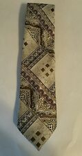 Mr John Beau Brummel Tie Stitched Brown, gold White gray and rust