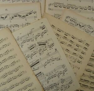 Vintage-sheet-music-paper-maybe-for-art-craft-decoupage-cards-1kg-2-sizes