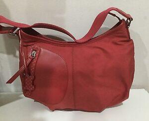 RADLEY HANDBAG / OVER SHOULDER BAG, RED+ SPOTTED DOG ...