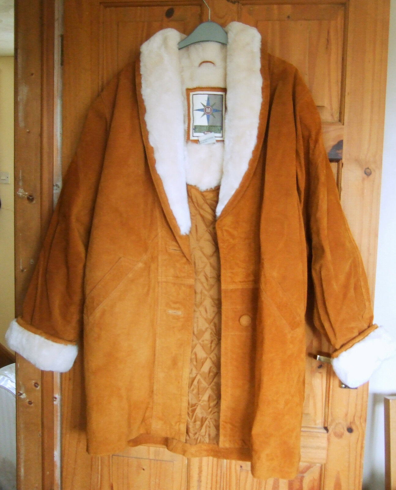 NEW Middlebrook Park Tan Suede leather coat size M (14 16)